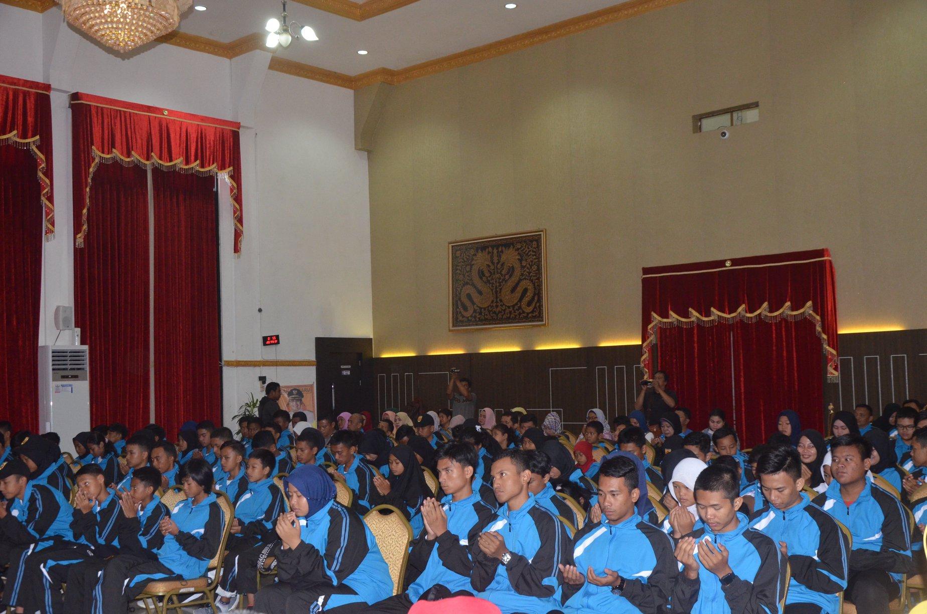 Pelepasan kontingen Pekan Olahraga Pelajar Daerah(POPDA)2019 Kota Banjarbaru